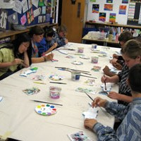 Fish painting at Green Glade Public School