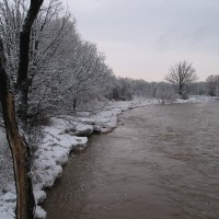 Credit River at Meadowvale Conservation Area in the winter