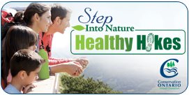 Image - Web banner, 'Step into nature - Healthy Hikes'
