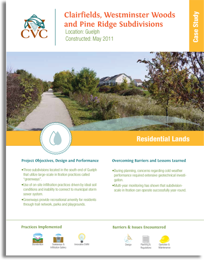 Cover of Clairfields, Westminster Woods and Pine Ridge Subdivisions Case Study