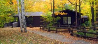 The watershed learning centre at Terra Cotta backed by glorious autumn colours