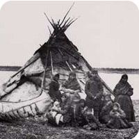 photo from past (native settlers) - grade 6 'blast from the past'