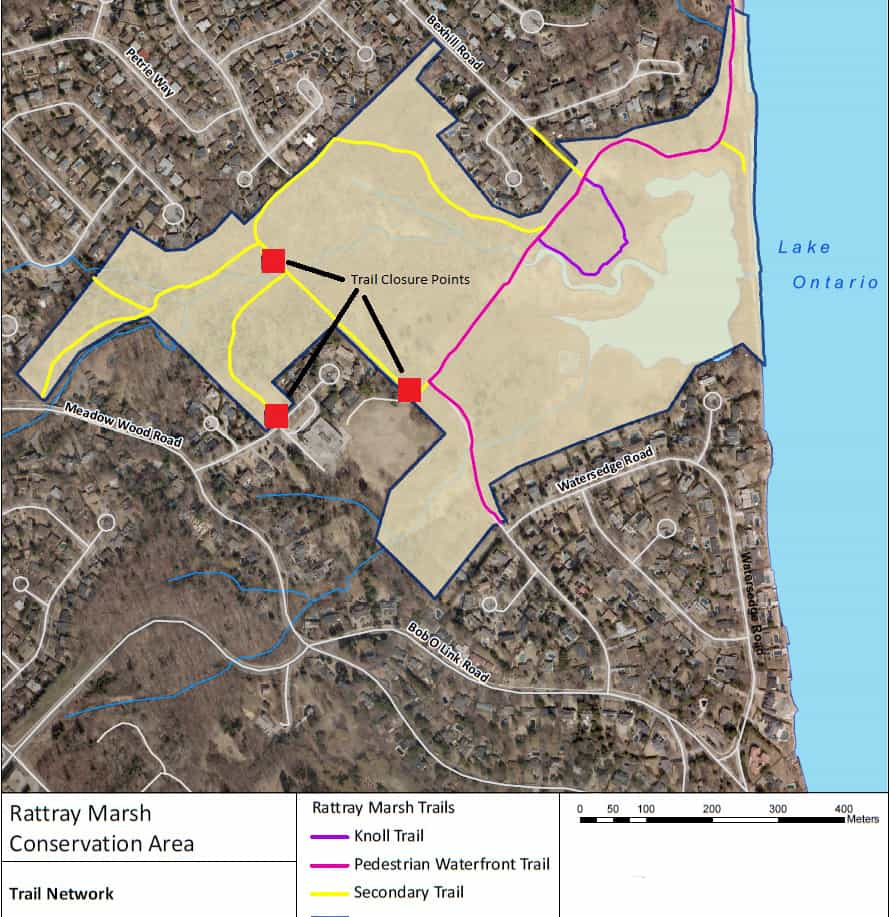 Rattray Ash Trail Closure Points