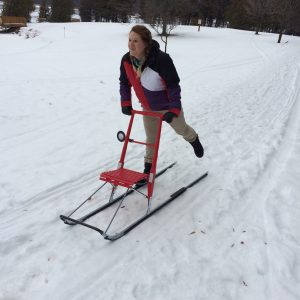 Kicksledding at Island Lake Conservation Area