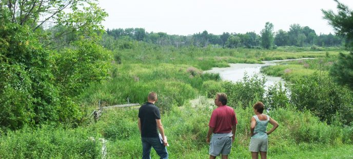 Land owners looking at property