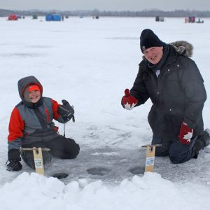Get Hooked on Ice Fishing at Island Lake