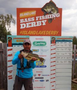 Waldo Brozo's 5th place bass weighing 4.6lbs
