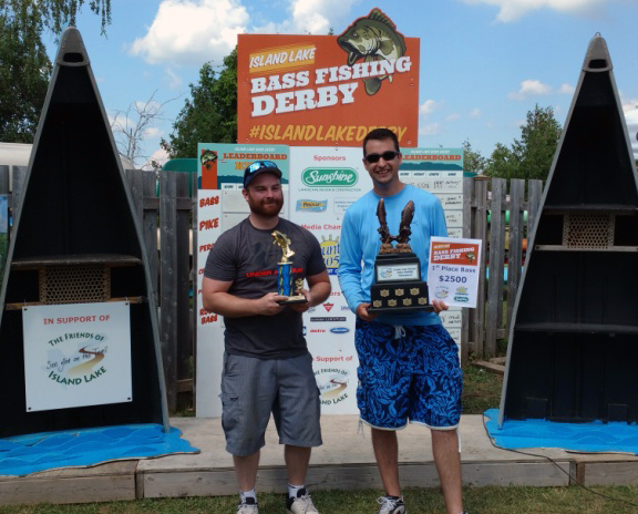 From left: Chris Elms and 1st Place Bass Winner Anthony Hakim