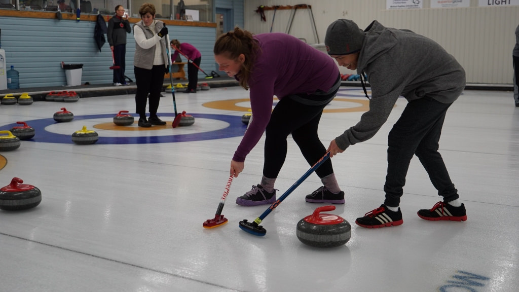 Curlers sweeping at the second annual charity curling bonspiel in support of CVC Foundation