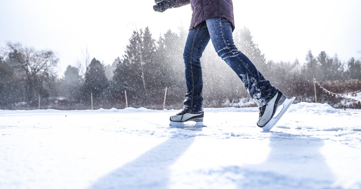 Person skating on ice