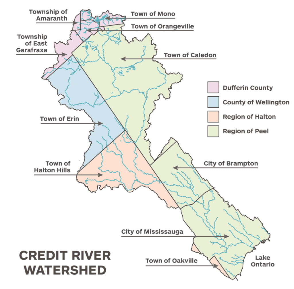 Map of the Credit River Watershed