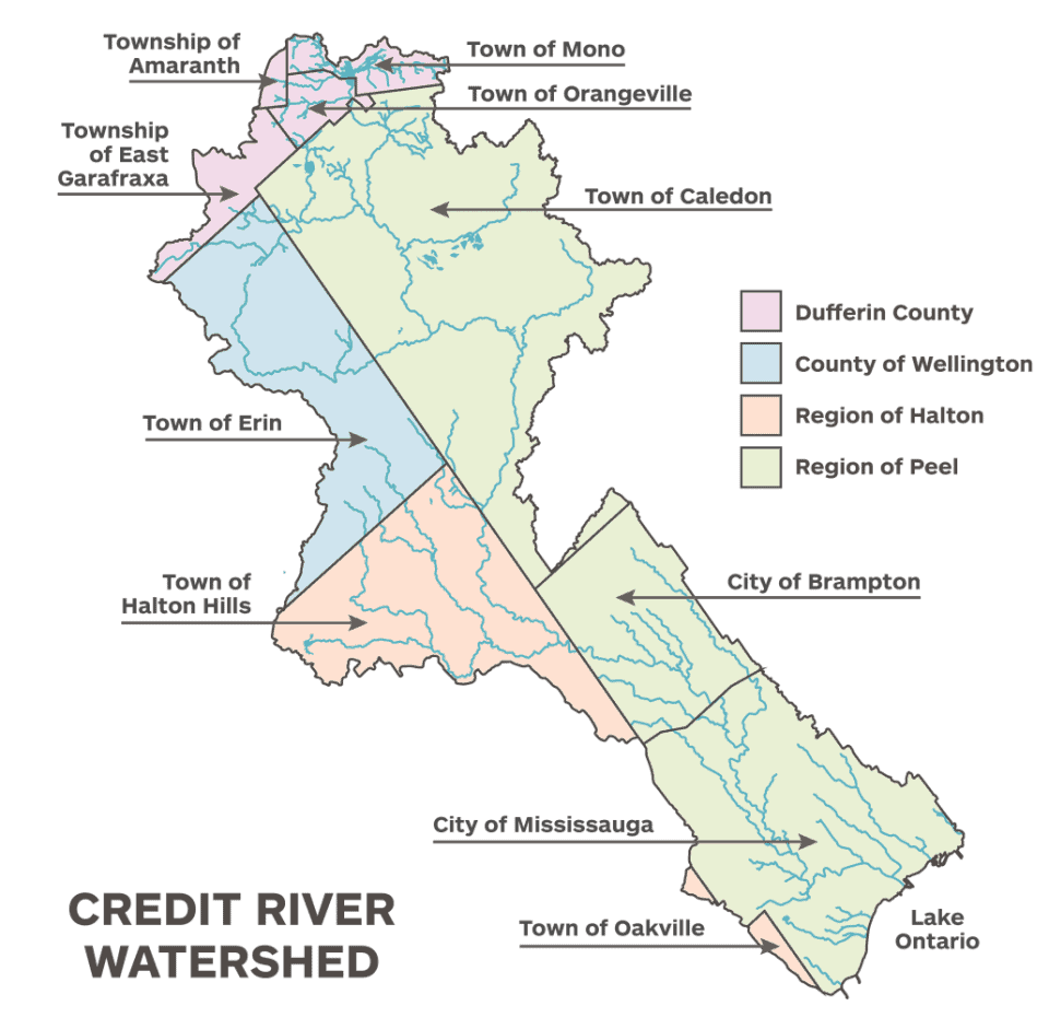 Credit River Watershed Map