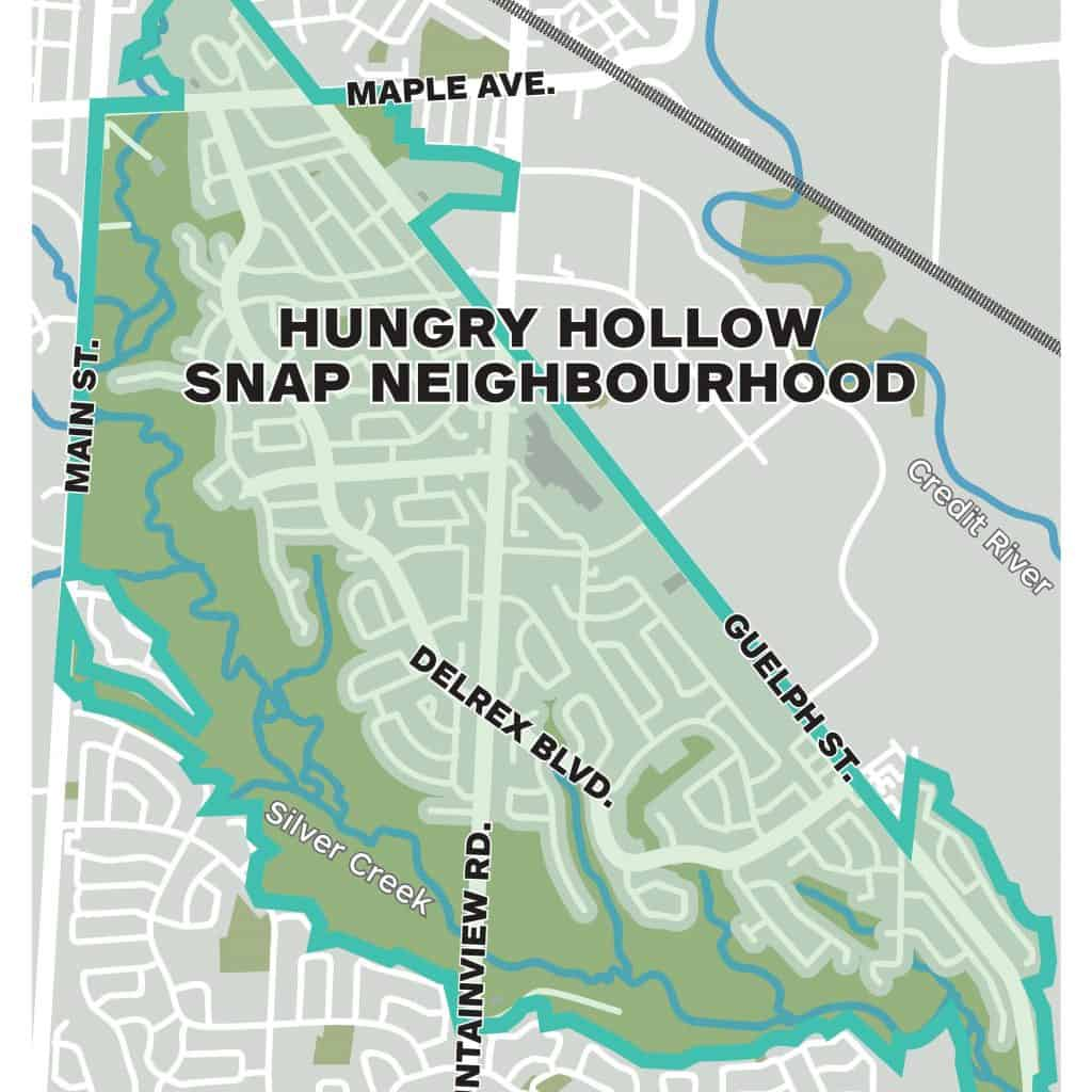 Hungry Hollow SNAP boundary shown on a map of Silver Creek area.
