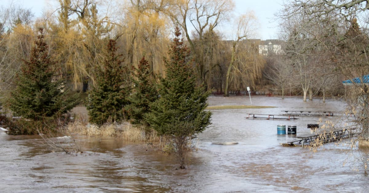 Flooding at Meadowvale Conservation Area